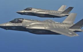 jet fighter, Lockheed Martin F, 35 Lightning II, military aircraft, USMC, aircraft