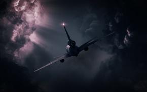 clouds, atmosphere, machine, sunlight, technology, aircraft