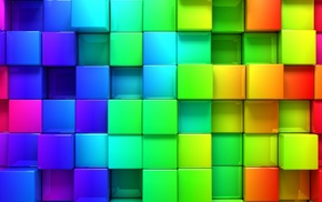 colorful, cube