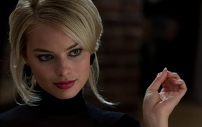 girl, actress, blonde, Margot Robbie, face