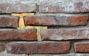 bricks, wall, texture