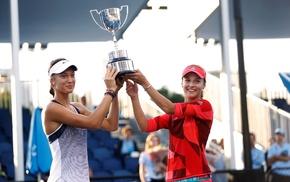 tennis, standing, girl, Tereza Mihalikova, Anna Kalinskaya, cup
