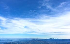 sky, nature, siripada, Sri Lanka, mountains
