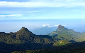 sky, nature, mountains, Sri Lanka, siripada