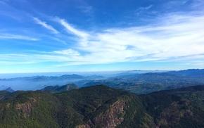 nature, Sri Lanka, siripada, sky, mountains