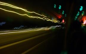 city, night, urban, long exposure, lights, light trails