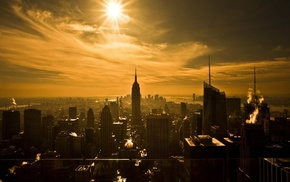 Empire State Building, city, photography, skyscraper, silhouette, New York City