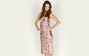 simple background, actress, dress, brunette, Summer Glau