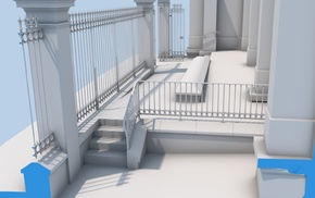 render, building