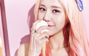 Asian, ice cream, pink