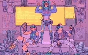 drawing, cyberpunk