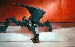 robot, concept art