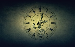 gears, Roman numerals, screw, time, gradient, clocks