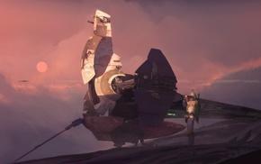 Star Wars, science fiction, artwork, Boba Fett