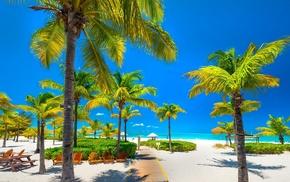 nature, sky, beach, Turks  Caicos, landscape, Caribbean