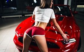 Tatyana Markova, Andrew Goluzenkov, girl, girl with cars, shorts, T