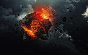 asteroid, digital art