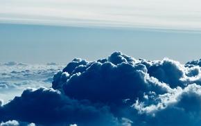 nature, dual monitors, multiple display, clouds, sky