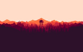 landscape, forest, illustration, digital art, colorful, video games