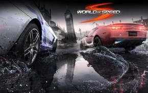 World of Speed, reflection, Chevrolet Camaro SS, Mercedes, Benz SLS AMG, video games