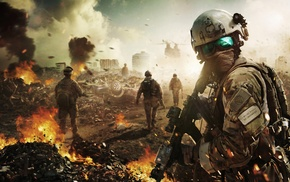 war, debris, Tom Clancys Ghost Recon, assault rifle, Ghost Recon, video games