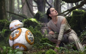 Rey, Star Wars The Force Awakens, movies, Daisy Ridley, girl, BB