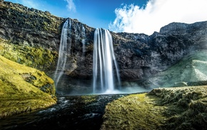 water, waterfall, nature, landscape
