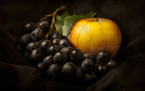 apples, grapes, food