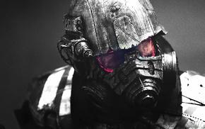 helmet, selective coloring, Fallout, armor, video games, Fallout New Vegas