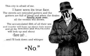quote, Rorschach, Watchmen, monochrome