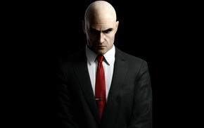 gun, video games, suits, Hitman, Hitman Absolution, portrait display