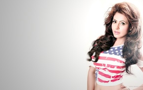 flag, nandini rai, T, shirt, model, girl
