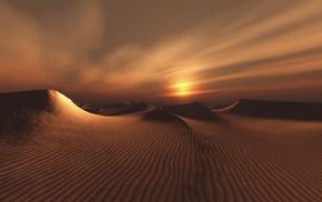 landscape, desert, sand, nature