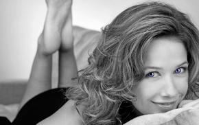 Alexandra Neldel, selective coloring, blonde, blue eyes, German