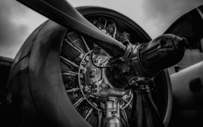 vehicle, engines, monochrome, aircraft