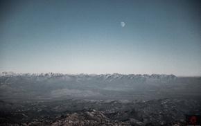 Moon, landscape, nature