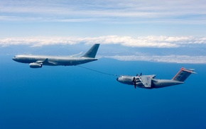 military aircraft, aircraft, mid, air refueling, Airbus A330 MRTT, Royal Airforce