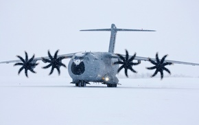 aircraft, snow, Airbus A400M Atlas, military aircraft