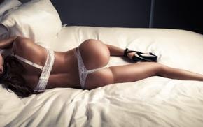 lingerie, ass, tanned, legs, bra, model