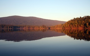 photography, reflection, water, lake, forest, trees