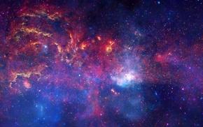 landscape, galaxy, stars, Hubble Deep Field, NASA, universe