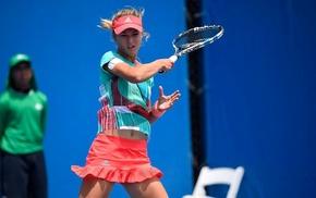 Anna Kalinskaya, tennis, tennis rackets, miniskirt