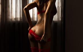 hips, the gap, red panties, lingerie, Alex Burn, panties