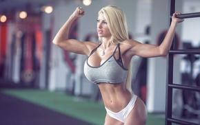 boobs, Angelika Baj, gyms, blonde, big boobs, fitness model