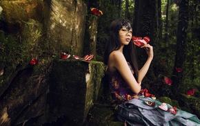 girl, fantasy art, model