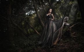 girl, fantasy art, model, artwork, girl outdoors