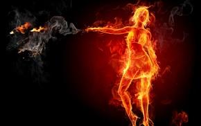 fire, smoke