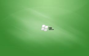 Microsoft Windows, green background
