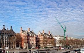 London, panoramas, Big Ben, London Eye