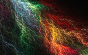CGI, simple, abstract, digital art, lightning, colorful